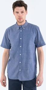 Niebieska koszula Big Star z krótkim rękawem