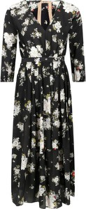 Sukienka N21 z jedwabiu rozkloszowana z dekoltem w kształcie litery v