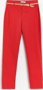 Czerwone spodnie Reserved w stylu casual