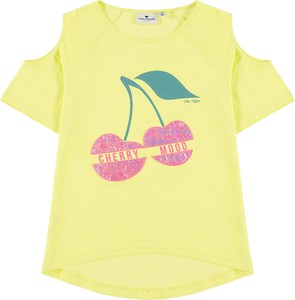 Żółta koszulka dziecięca Tom Tailor z krótkim rękawem