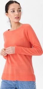Pomarańczowy sweter House w stylu casual