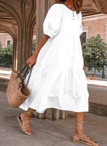 Sukienka Sandbella z dekoltem w kształcie litery v