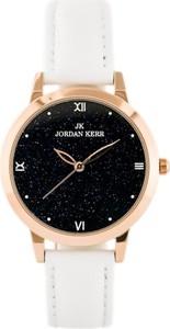 ZEGAREK DAMSKI JORDAN KERR - L117 (zj911a) - antyalergiczny - Biały || Różowe złoto