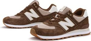 Buty sportowe New Balance sznurowane ze skóry 574