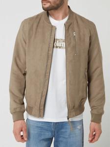 Brązowa kurtka Jack & Jones ze skóry ekologicznej w stylu casual krótka