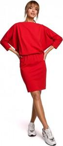 Sukienka MOE z długim rękawem z bawełny w stylu casual