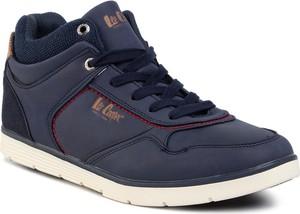 Niebieskie buty sportowe Lee Cooper sznurowane