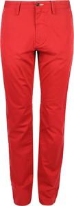 Czerwone chinosy Gant w stylu casual z tkaniny