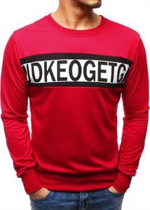 Czerwona bluza dstreet w street stylu z bawełny