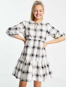 Sukienka New Look koszulowa z okrągłym dekoltem mini