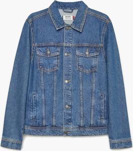 Granatowa kurtka Cropp krótka w młodzieżowym stylu