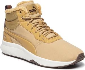 Żółte buty sportowe Puma sznurowane
