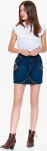 Niebieska spódnica Troll mini z jeansu