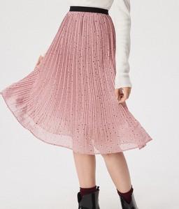 Różowa spódnica Sinsay midi