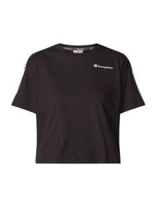 Czarna bluzka Champion z okrągłym dekoltem z krótkim rękawem w stylu casual