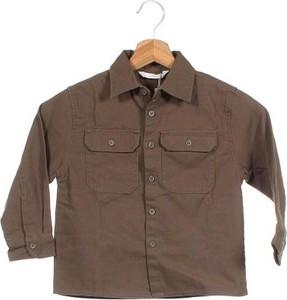 Brązowa koszula dziecięca Mango