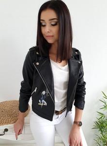 Czarna kurtka Ottanta krótka w stylu casual z bawełny