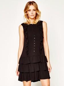 Czarna sukienka Liu-Jo bez rękawów mini w stylu casual