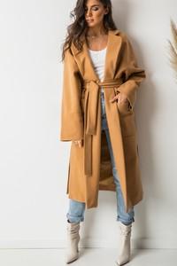 Brązowy płaszcz Lalu
