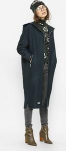 Czarny płaszcz Freeshion w stylu casual