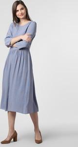 Niebieska sukienka Marc O'Polo DENIM z okrągłym dekoltem
