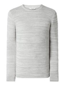 Sweter Solid z bawełny w stylu casual