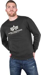 Czarna bluza Alpha Industries z bawełny