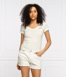 T-shirt Pepe Jeans z krótkim rękawem z dekoltem w kształcie litery v w stylu casual