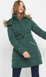 d46b3b86168f5 Zielone kurtki puchowe casualowe, kolekcja zima 2018