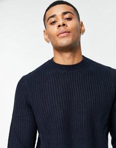 Granatowy sweter Ben Sherman z okrągłym dekoltem
