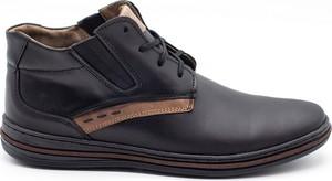Czarne buty zimowe Polbut