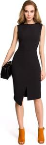 Czarna sukienka Stylove midi asymetryczna