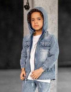 Niebieska kurtka dziecięca Mashmnie z jeansu