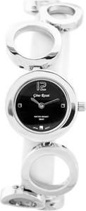 ZEGAREK DAMSKI GINO ROSSI - 8247B (zg510b) silver/black + BOX - Srebrny