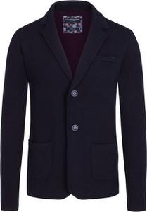 Granatowy sweter Colours & Sons z wełny
