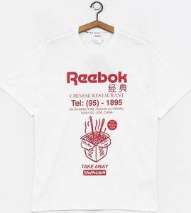 T-shirt Reebok z dzianiny