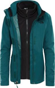 Niebieska kurtka The North Face z dzianiny