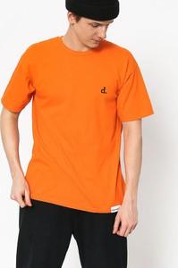 Pomarańczowy t-shirt Diamond Supply Co. z bawełny w stylu casual