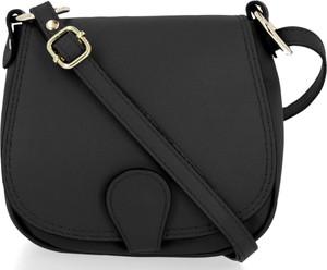 Czarna torebka VITTORIA GOTTI średnia na ramię matowa