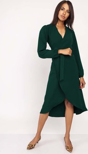 Sukienka Lanti midi z długim rękawem kopertowa