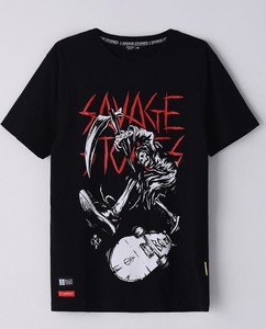 Czarny t-shirt Cropp w młodzieżowym stylu