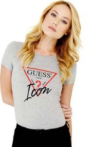 T-shirt Guess z krótkim rękawem w młodzieżowym stylu