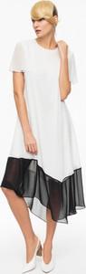 Aneta kręglicka x l'af biała sukienka z czarnym dołem ak classic 4