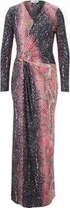 Sukienka Heine z dekoltem w kształcie litery v maxi kopertowa