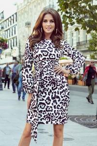 Sukienka Ptakmoda.com w stylu casual z tkaniny z długim rękawem