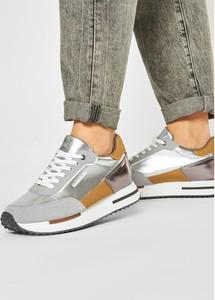 Srebrne buty sportowe Napapijri sznurowane