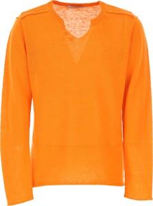 Pomarańczowy sweter Paolo Pecora