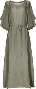 Sukienka European Culture z długim rękawem midi