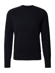 Granatowy sweter Hugo Boss z kaszmiru z okrągłym dekoltem w stylu casual