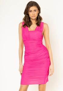 Sukienka Pinko mini dopasowana z dekoltem w karo